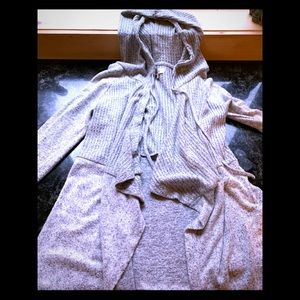 Mudd size medium hooded cardigan like sweater